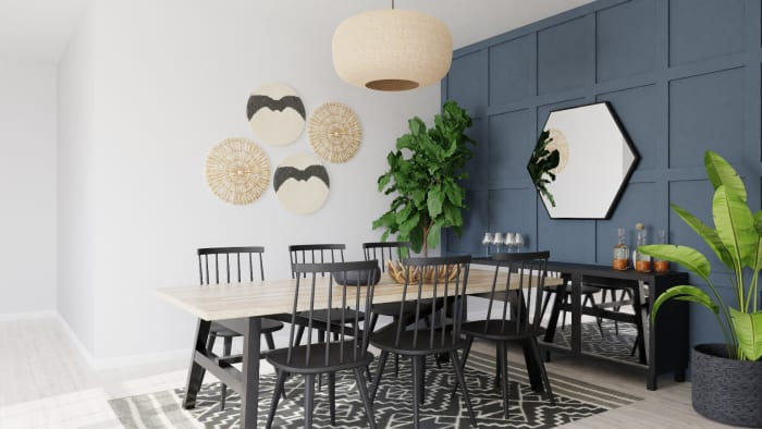 Dinner Party Seating: Modern Farmhouse Design View 2 By Spacejoy