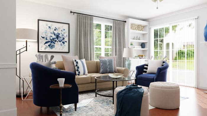 A Pet-Friendly Coastal-Inspired Living Room Design View 4 By Spacejoy