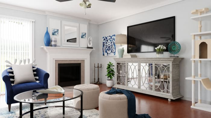 A Pet-Friendly Coastal-Inspired Living Room Design View 3 By Spacejoy