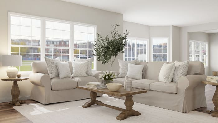 Inviting & Calming Classic Living Room Design View 2 By Spacejoy