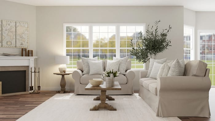 Inviting & Calming Classic Living Room Design View 3 By Spacejoy