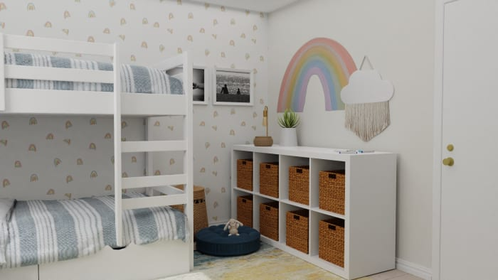 A Transitional Modern Kids Bedroom Designed to Ignite Creativity Design View 2 By Spacejoy