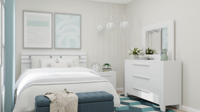 A Modern Transitional Kids Bedroom Designed for blue Dreams Design View 2 By Spacejoy
