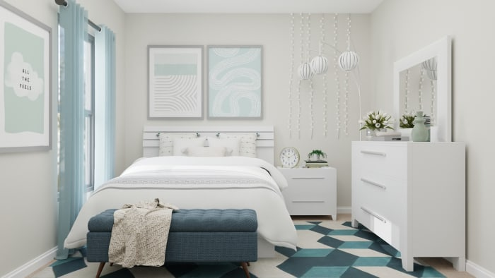 A Modern Transitional Kids Bedroom Designed for blue Dreams Design View 3 By Spacejoy