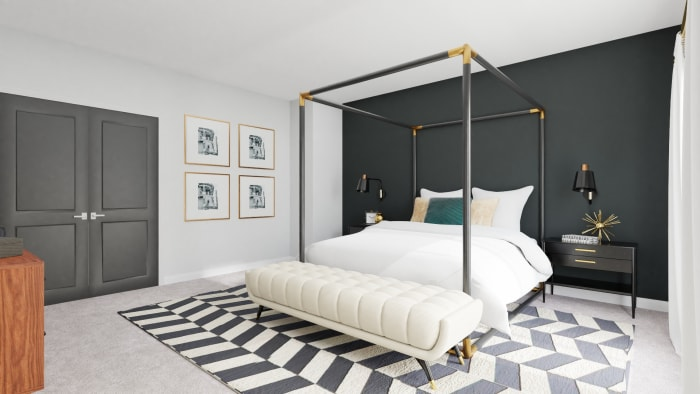 A Modern and Bold Bedroom Design That Inspires Luxury Design View 2 By Spacejoy