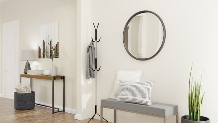 A Modern Rustic Entryway to Inspire Inner Peace Design View 2 By Spacejoy