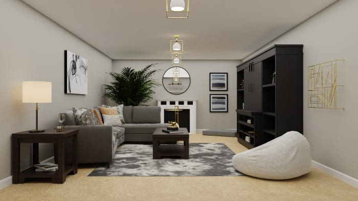 A Modern Elegant Room for the Entire Family Design View 2 By Spacejoy
