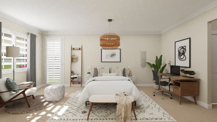 A Bedroom Worthy of Boho Wall-of-Fame Design View 4 By Spacejoy
