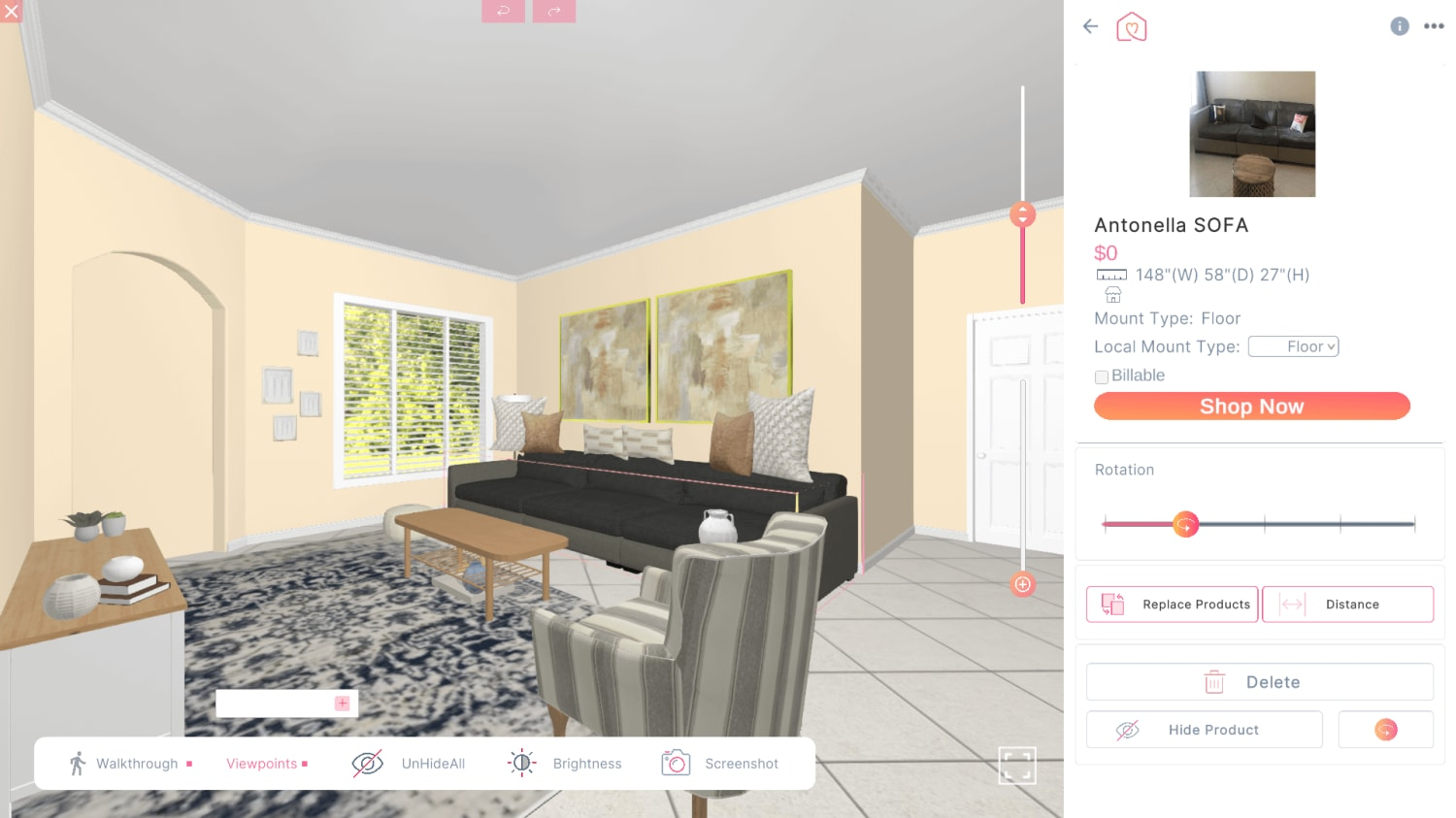 3D Design For Antonella Salembier New Living Room View