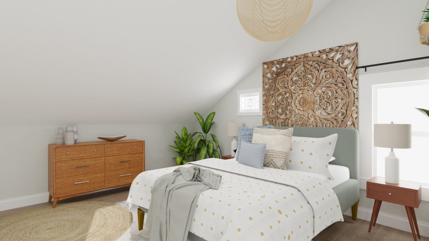 Get Inspiration From Soft And Earthy Boho Minimalist Bedroom Design By Spacejoy