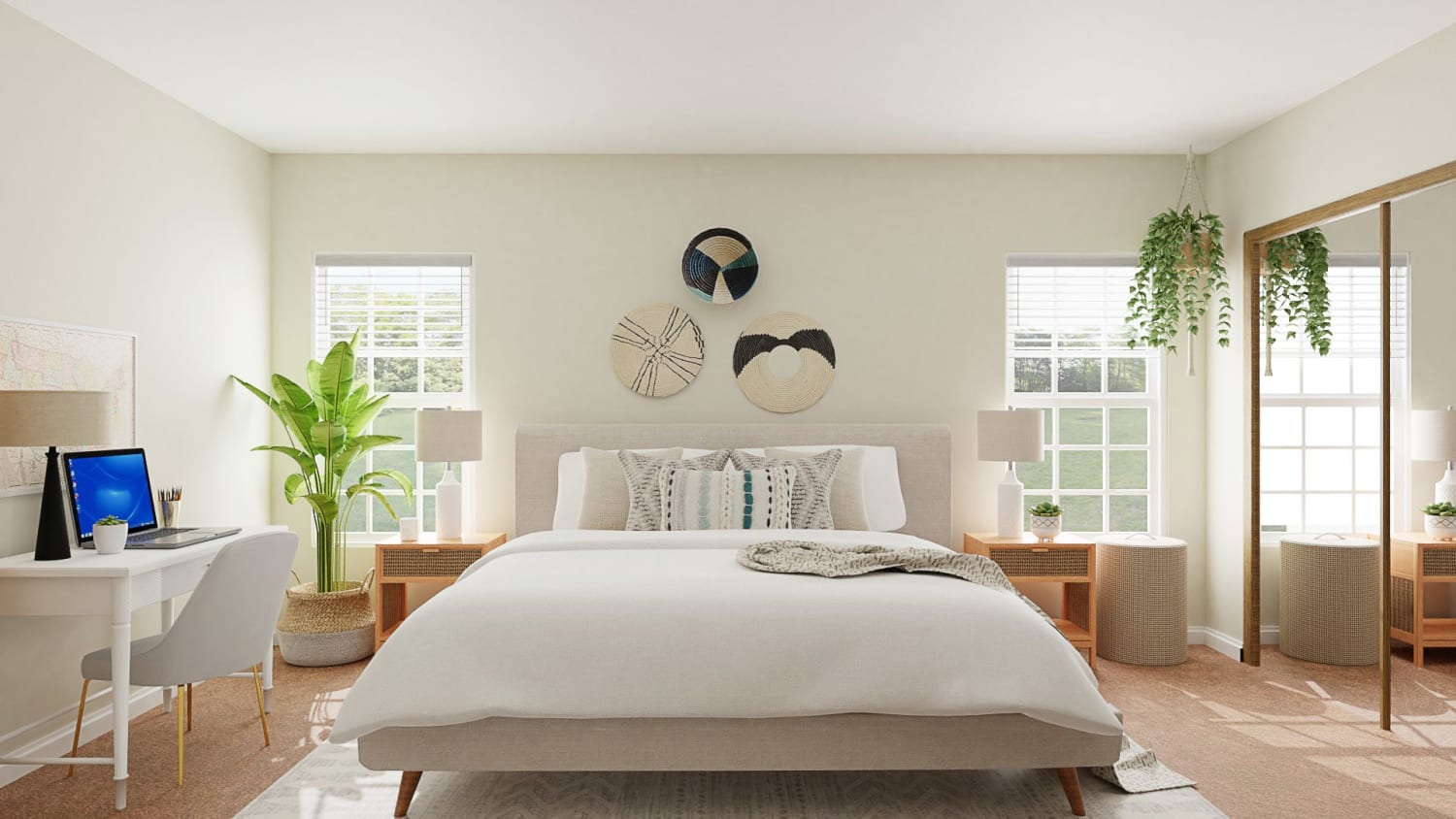 Boho Minimalist Bedroom Design Idea For Creating A Multifunctional Space By Spacejoy