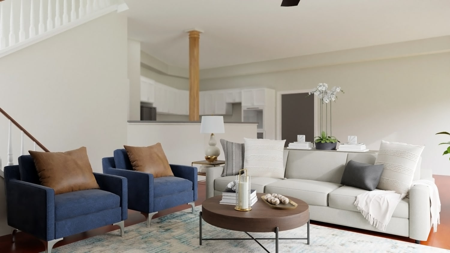 Best Modern Transitional Living Room Design With Additional Seating By Spacejoy