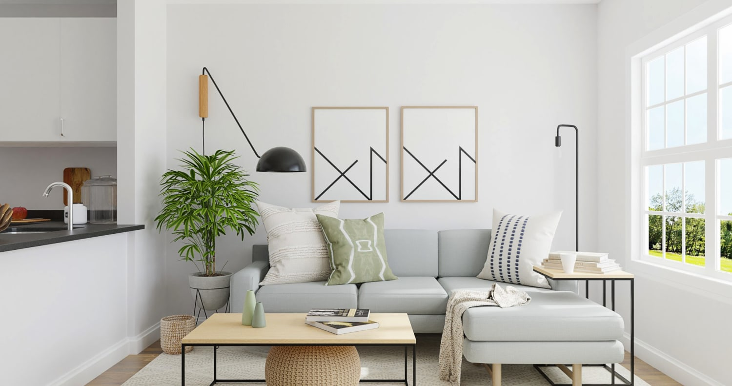 Small Space Living Area: Minimalist Living Room Design By Spacejoy