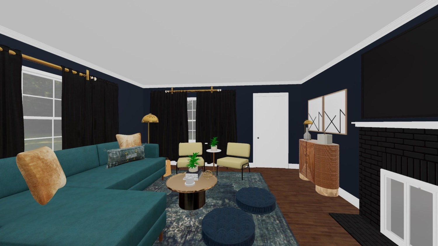 3D Design For Lynette New Living Room View