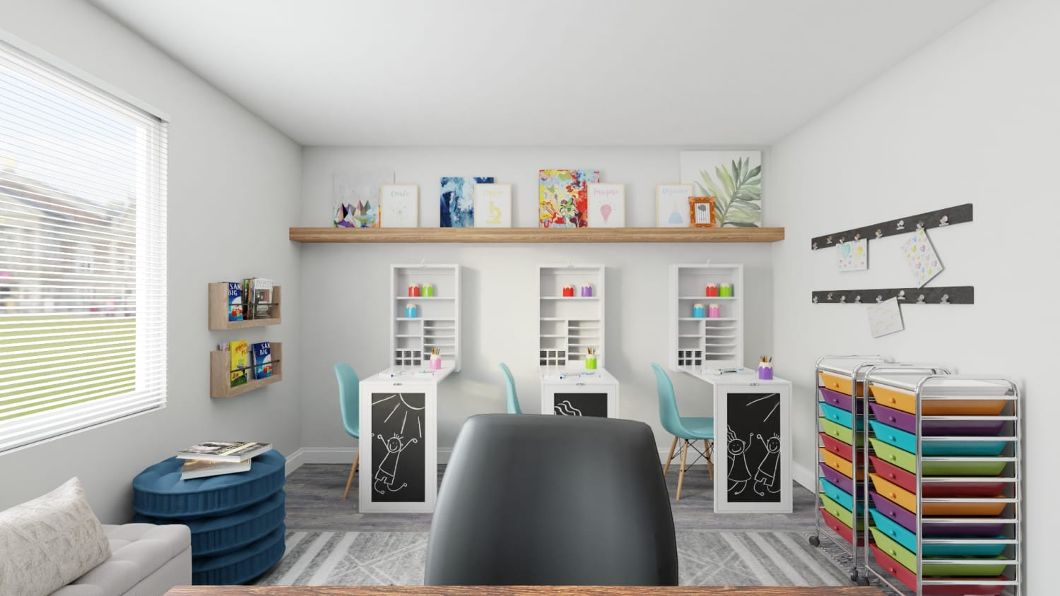 Home Office Study Room Design For The Entire Family By Spacejoy