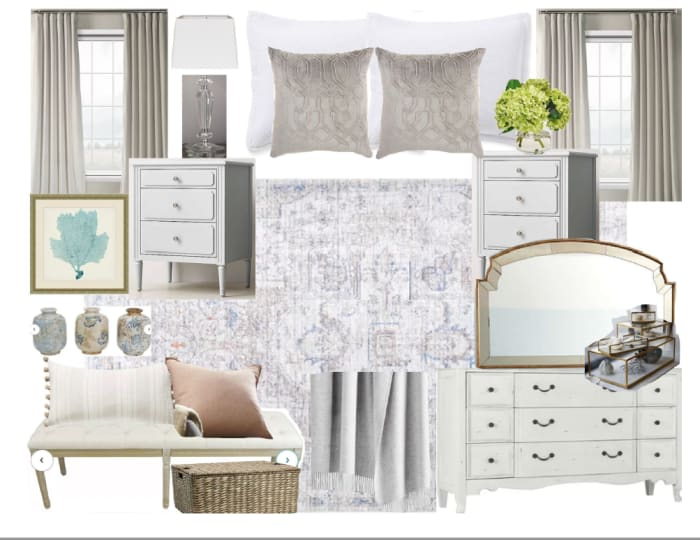 Bedroom Moodboard Created For Caroline
