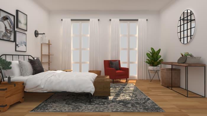 Innovative Masculine Rustic Industrial Bedroom Design By Spacejoy