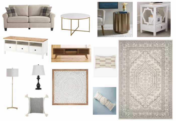 Living Room Moodboard Created For Antonella Salembier