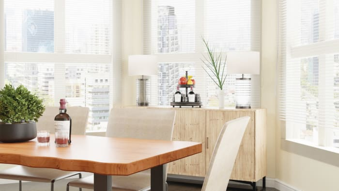 Airy Tones: Urban Farmhouse Dining Room Design View 2 By Spacejoy