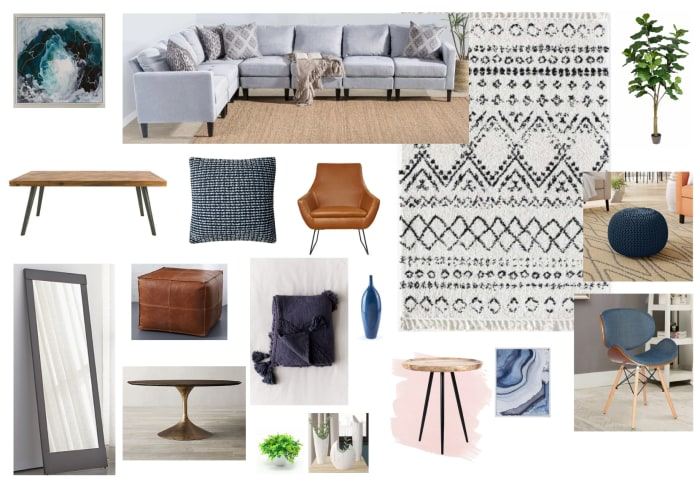 Living Room Moodboard Created For Zoe