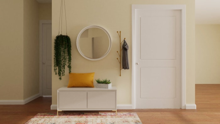 Vibrant Multi-Color: Eclectic Glam Entryway Design View 2 By Spacejoy