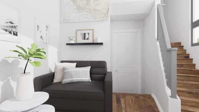 Small Spaces: Scandinavian Living Room Design View 2 By Spacejoy