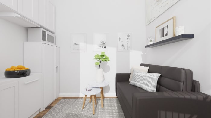 Small Spaces: Scandinavian Living Room Design View 3 By Spacejoy