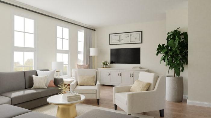 Blush And Ivory Elegant Glam Living Room Design By Spacejoy