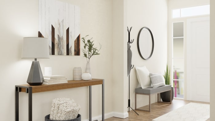A Modern Rustic Entryway to Inspire Inner Peace Design View 3 By Spacejoy