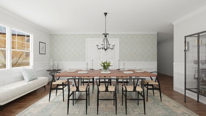 A Royal-Inspired Modern Dining Room  Design View 4 By Spacejoy
