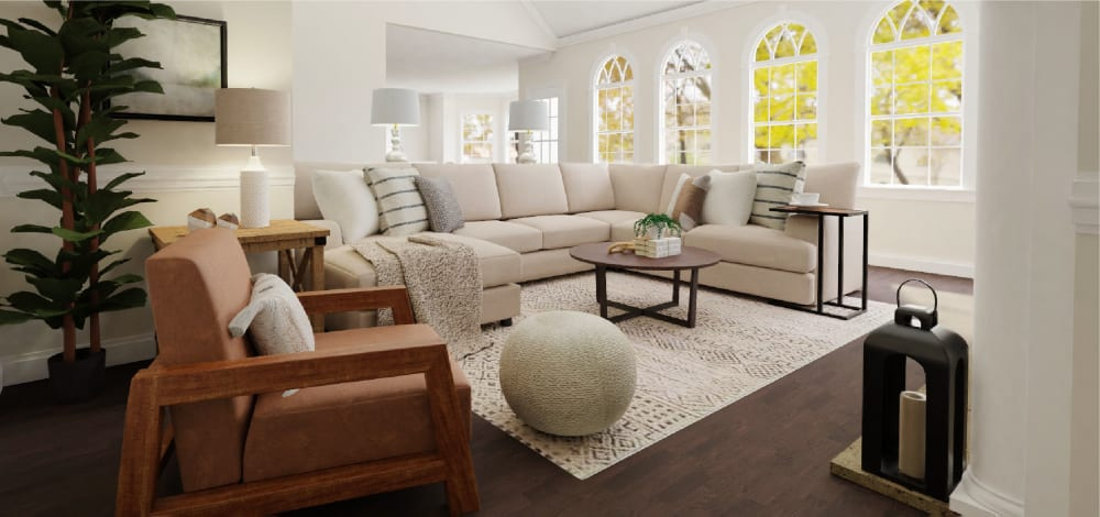 Farmhouse Living Room Design Ideas by Spacejoy