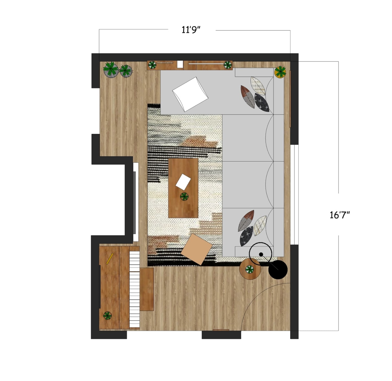 Living Room Layout Created For Trinity