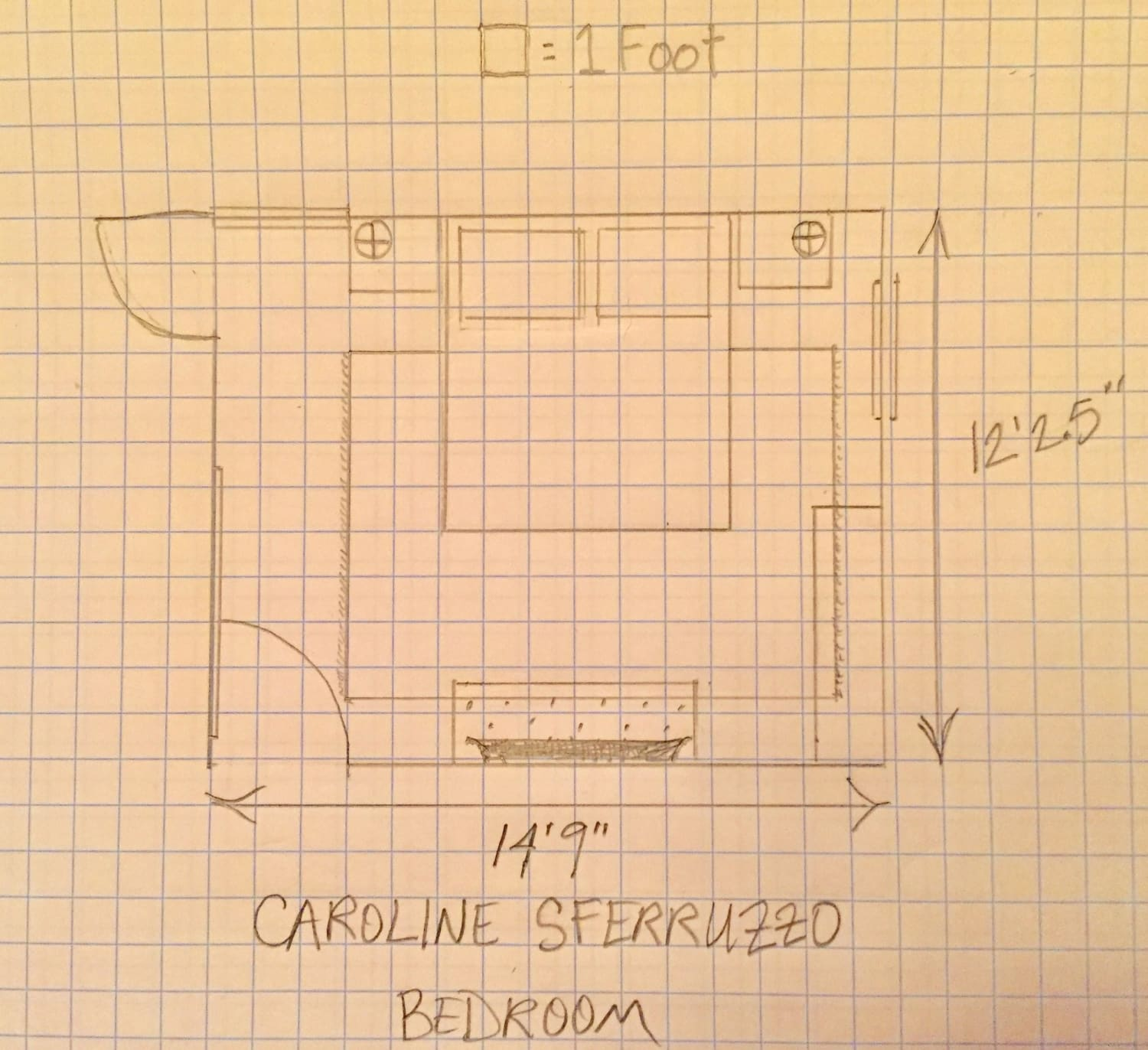 Bedroom Layout Created For Caroline