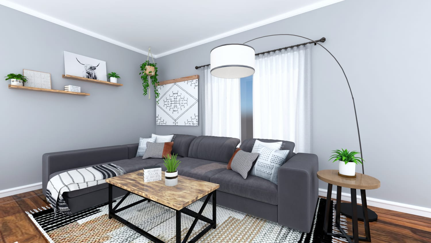 Spacejoy review of Living Room Designed For Trinity