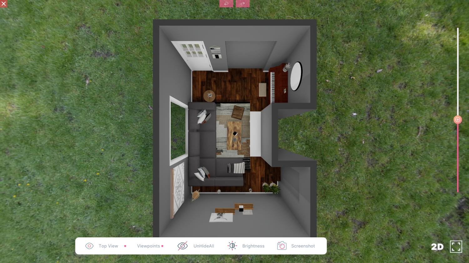 3D Design For Trinity New Living Room View