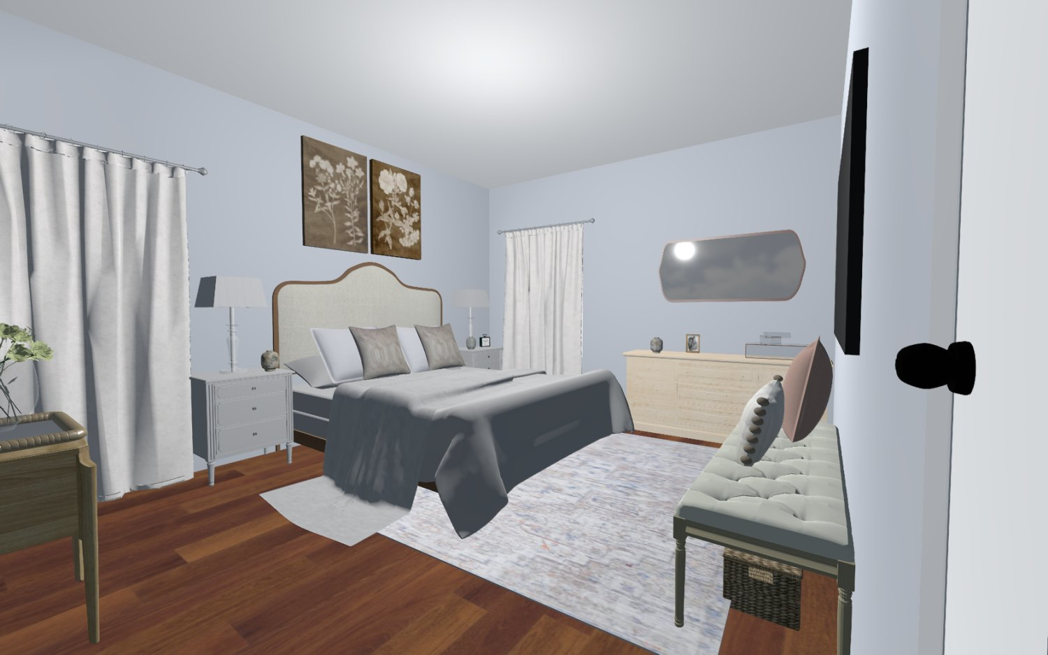3D Design For Caroline New Bedroom View