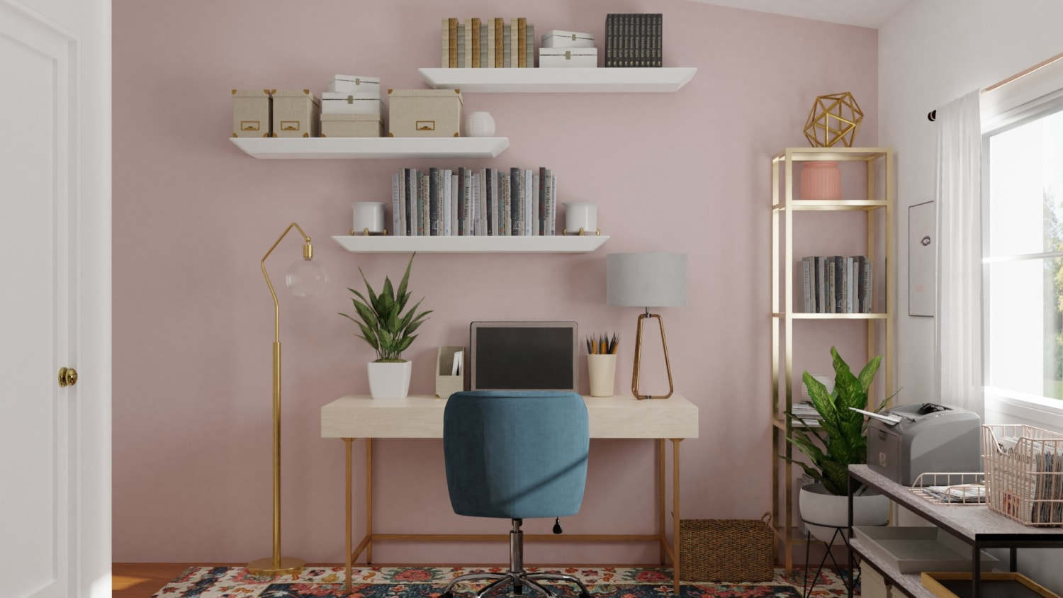 Spacejoy review of Home Office Designed For Adriana Pachas