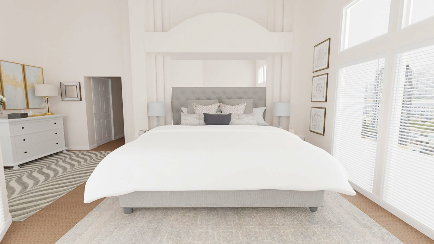 Spacejoy review of Bedroom Designed For Maxie and Mark McClintock