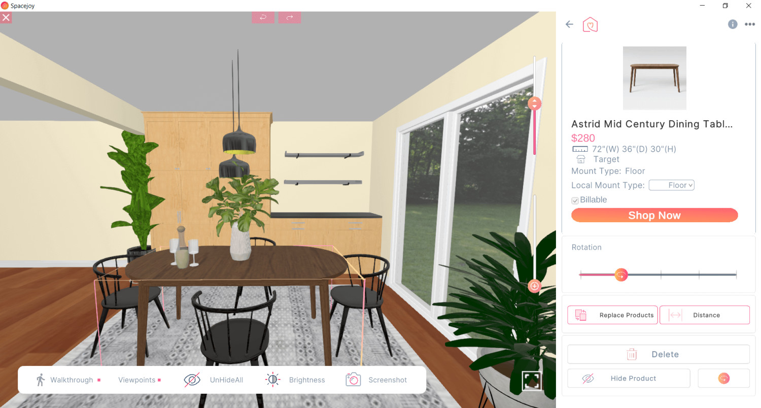 3D Design For Amanda New Dining Room View