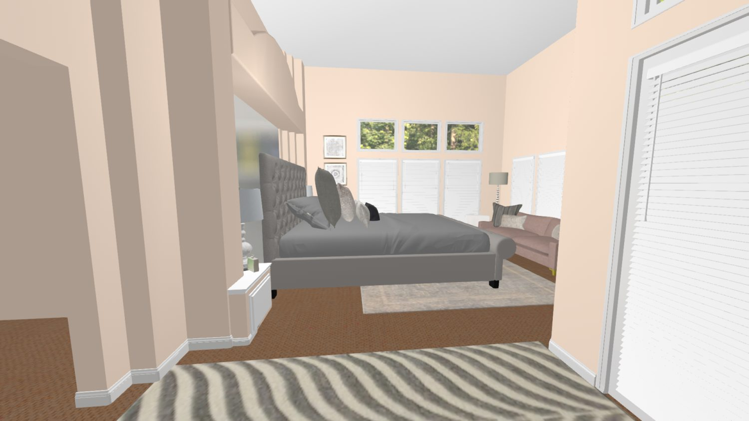 3D Design For Maxie and Mark McClintock New Bedroom View