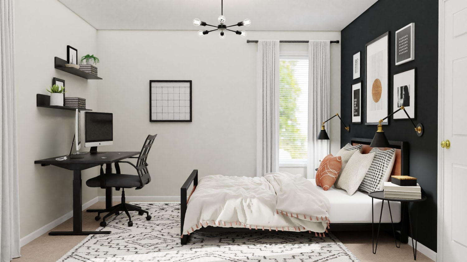 home office and guest room