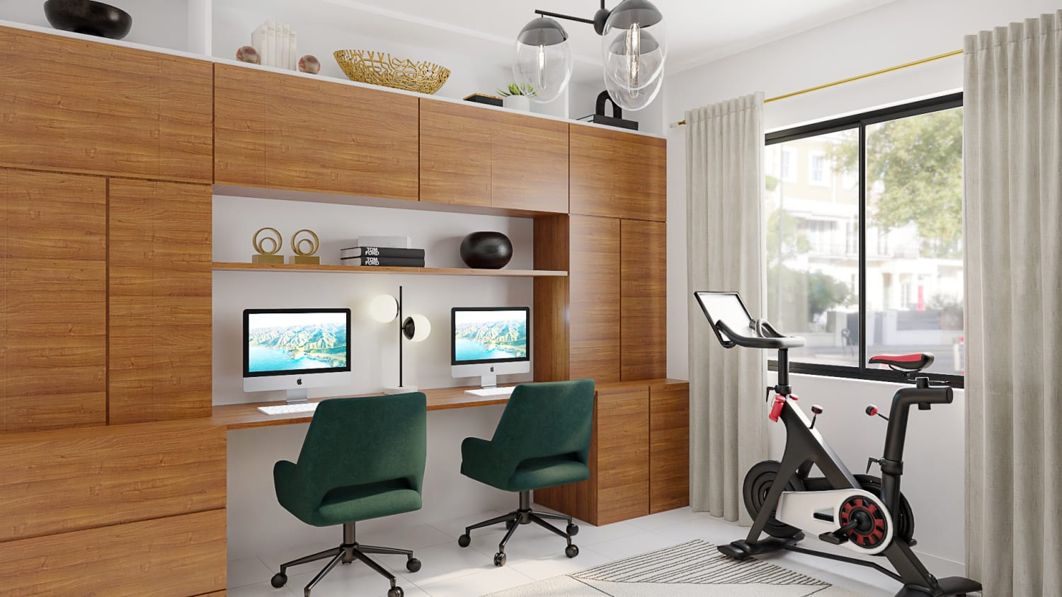 fitness studio and home office