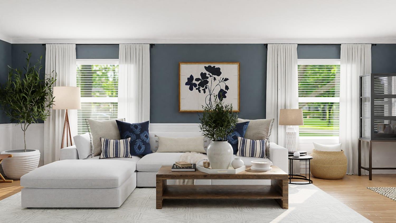 Blue Living Room Paint Color Ideas