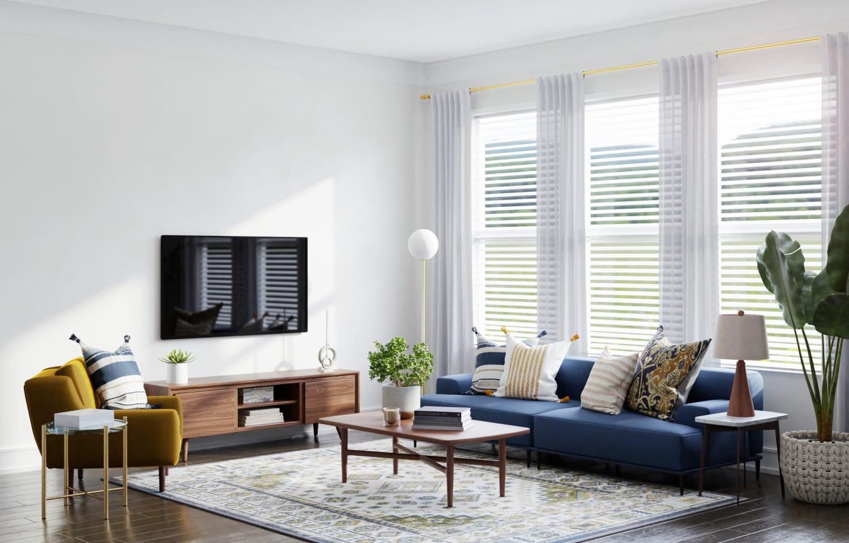 transitional living room decor