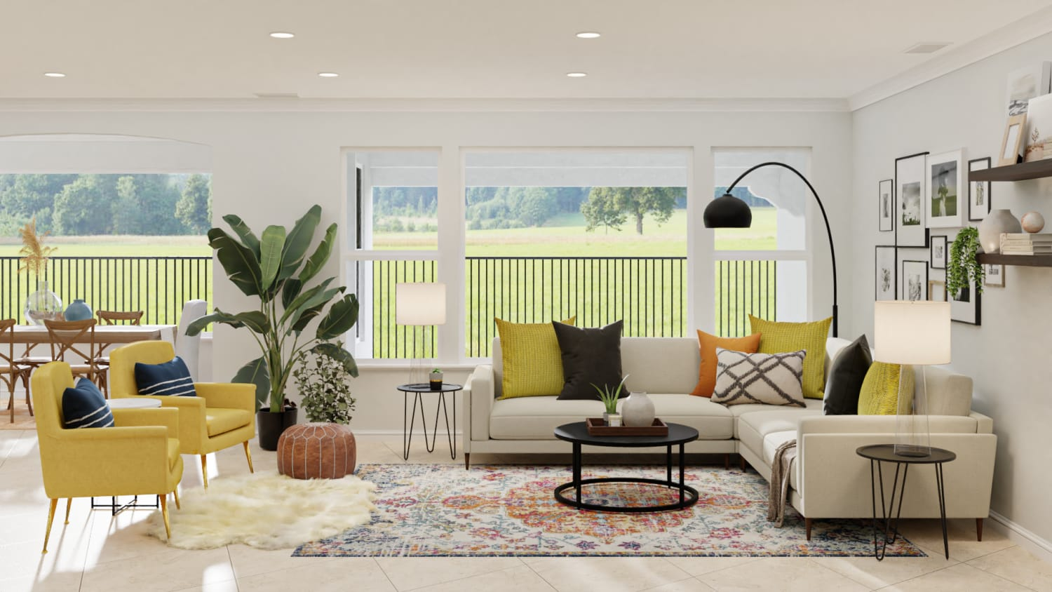 modern eclectic living room decor