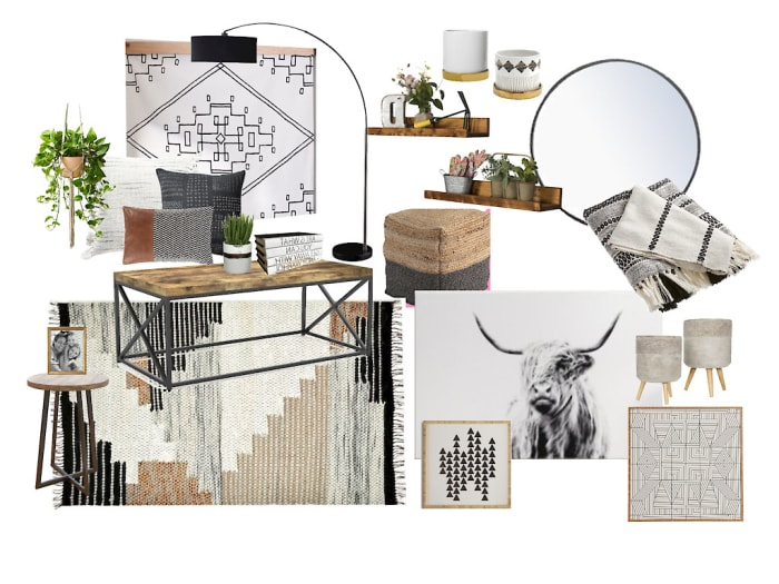 Living Room Moodboard Created For Trinity