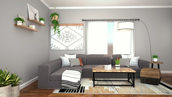 Spacejoy review of Living Room Designed For Trinity 3