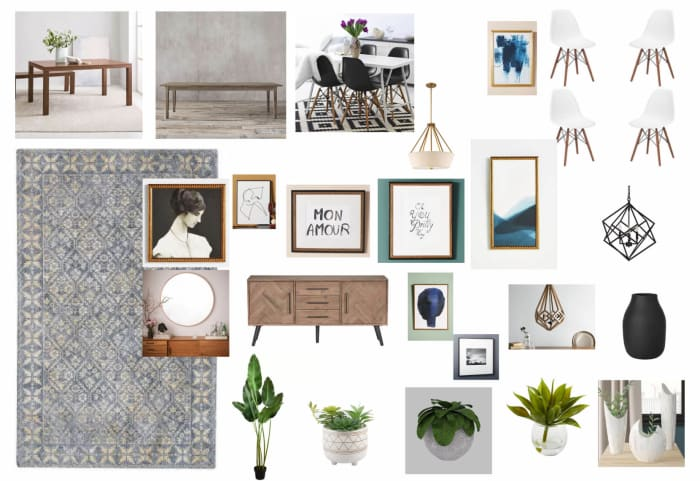 Dining Room Moodboard Created For Jade