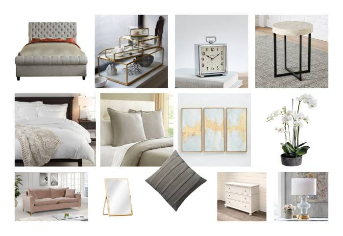 Bedroom Moodboard Created For Maxie and Mark McClintock