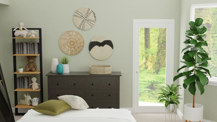 Transitional Glam Bedroom for Tweens With Emerald  Accents Design View 5 By Spacejoy